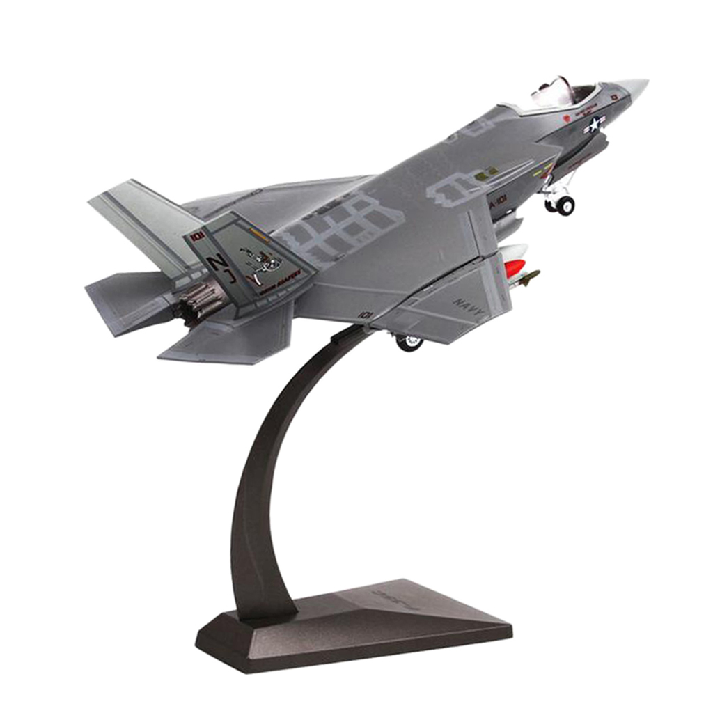 1:72 Scale F-35C Fighter Aircraft Helicopter Diecast Alloy Military Model Airforce for Collectables Home Office Decorative