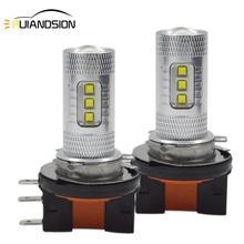 цены 80W H15 High/low LED Car Fog Lamp 16smd XBD LED high power White Bulbs For Car Auto External Fog Light Headlight Lamp 10-30V DC