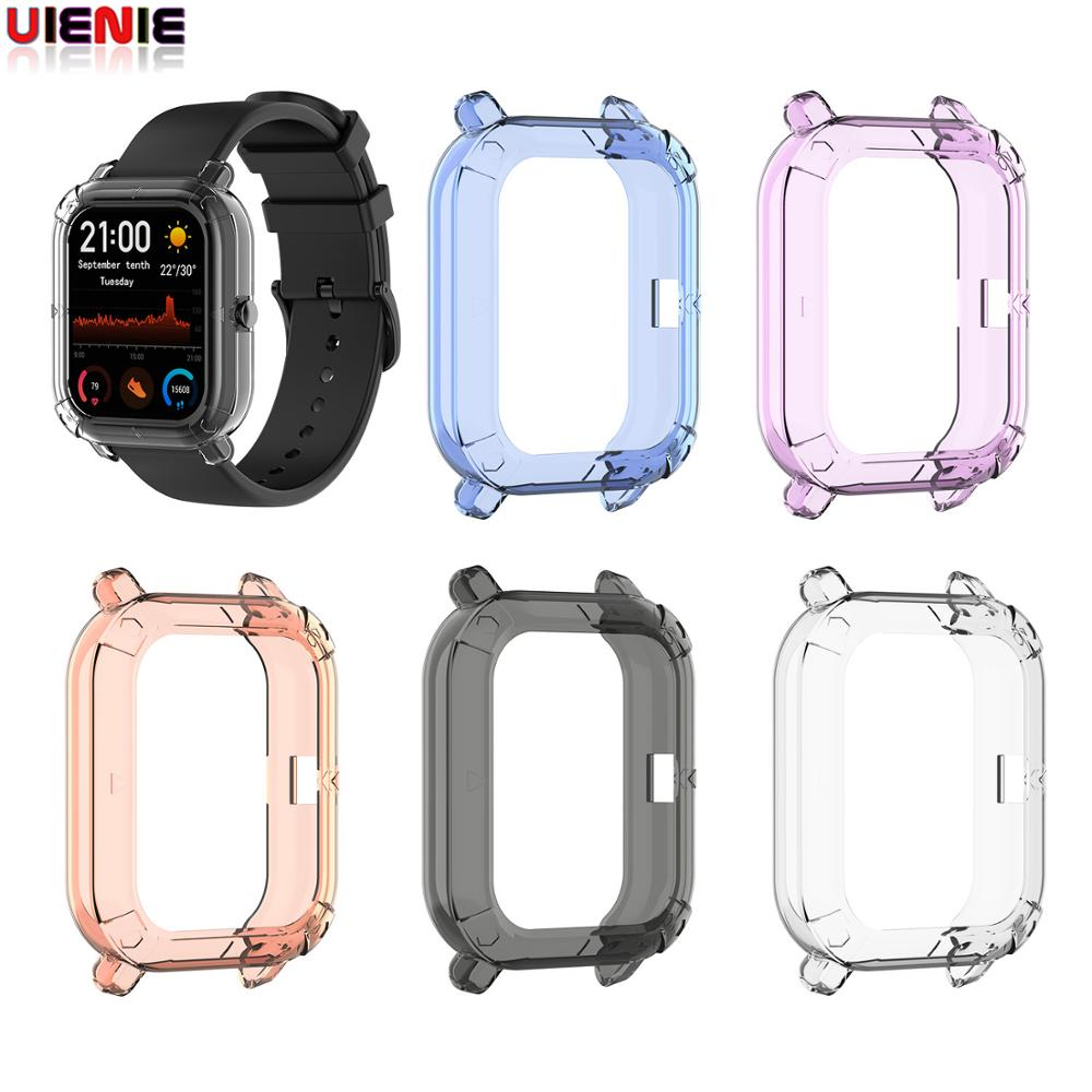 For Xiaomi Huami Amazfit GTS Silicone Shockproof Protective Case Cover Soft TPU Protector Skin Shell Frame Amazfit GTS #1026