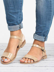 Summer Shoes Sandals Zapatillas Female Fish-Mouth Flat Mujer Peep-Toe Beach Ladies Casual