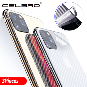 Image 1 - Back Film For Apple Iphone 11 pro Back Cover Matte Carbon Fiber Sticker For Iphone 11 Pro Max Iphone11 Back Screen Protector