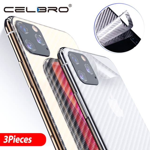 Back Film For Apple Iphone 11 pro Back Cover Matte Carbon Fiber Sticker For Iphone 11 Pro Max Iphone11 Back Screen Protector