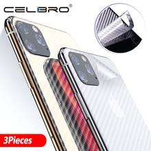 Lưng Cho IPhone 11 Pro Ốp Lưng Mờ Sợi Carbon Miếng Dán Kính Cường Lực IPhone 11 Pro Max Iphone11 Lưng tấm Bảo Vệ màn hình