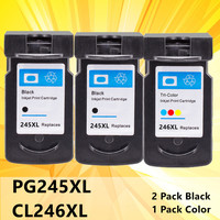 245XL 246XL PG245 XL PG245XL Compatible PG245 CL246 Ink Cartridge for Canon 245 246 MG2450 MG2520 MG2550 MG2920 Inkjet Printer