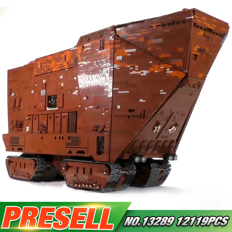 Yeshin Star Toys Wars Compatible With Legoing MOC 13289 Cavegod UCS Sandcrawler Assembly Model Building Blocks Bricks Kids Gifts