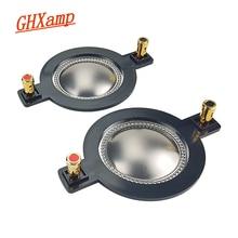 Ghxamp 51.3 ミリメートルボイスコイルチタンフィルムホーンツイーターダイヤフラムドライバリング高音スピーカー修理アクセサリー diy 2 個