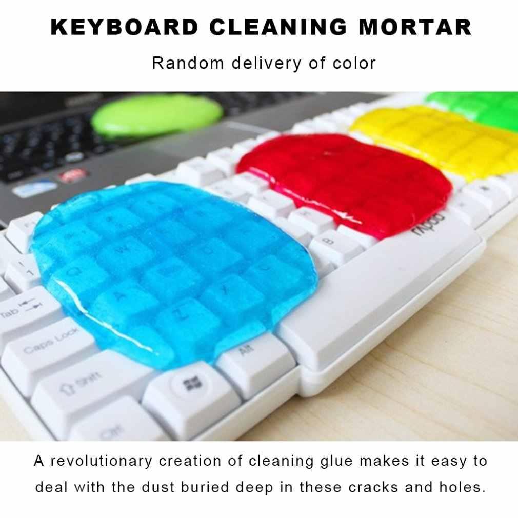 Limpiador de teclado, limpieza de ordenador portátil, Gel mágico, limpiador de teclado, pegamento superlimpio para coche, Gel mágico, limpiador de polvo