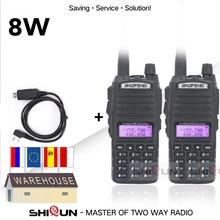 Baofeng – walkie talkie Portable de 8W, 10 KM, radio double VHF UHF, Radio amateur, UV 82 UV82, 2 pièces