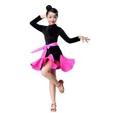 Детские платья для девочек, детское платье для латинских танцев для девочек, детский танцевальный костюм для соревнований, одежда для тренировок