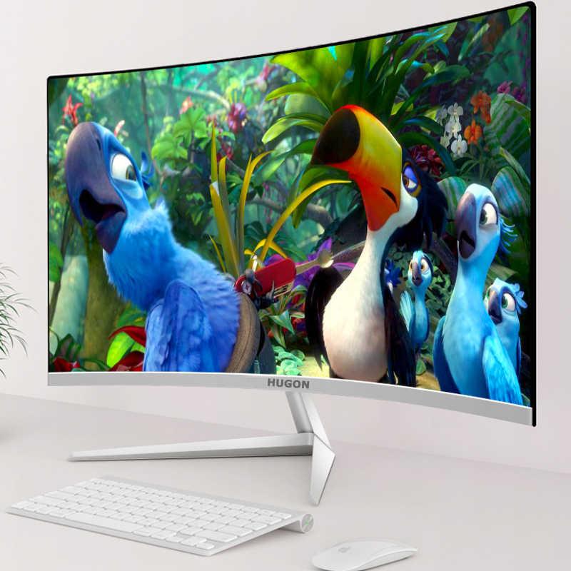 """פון-HUGON 22 """"24"""" 27 """"אינץ LED/LCD מעוקל מסך צג 60/75Hz משחקי משחק תחרות מלא HD מחשב תצוגה שטוח מסך"""