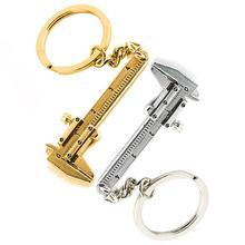 1 pc portátil 0-4cm Mini Vernier llavero con forma de pinza de medir herramientas clave anillo de estilo de herramienta que calibra