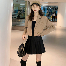 2019 brief paragraph small suit jacket lapel web celebrity female in the spring and autumn outfit new Coats