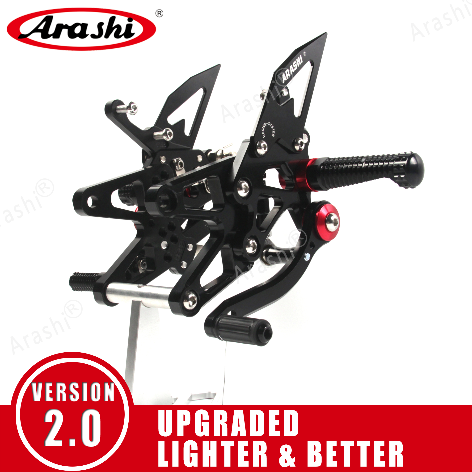 Arashi 1 Set For BMW S1000RR 2009 -2018 CNC Adjustable Footrests Motorcycle Rider Foot Pegs Rearset S1000 RR Accessories 2017