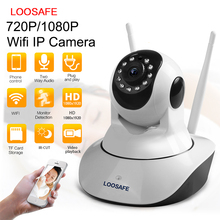 LOOSAFE PTZ Wireless Panorama IP Camera 720P 1080P Indoor Security Surveillance CCTV CMOS 2.8mm H.264 Network IP Camera ICR Night Vision 2 Way Audio Wifi IP Camera for Android IOS Smartphone Windows PC Drop Shipping
