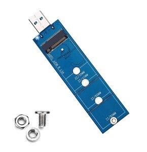 Адаптер M.2 к USB, B key M.2 SSD к USB 3,0 кардридер, NGFF SATA конвертер поддерживает SATA SDD 2230 2242 2260 без кабеля
