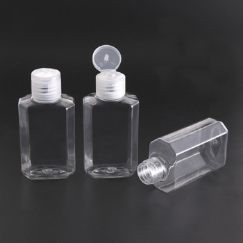 2/5/10pcs/lot 60ml PET Lotion Bottles Portable Square Travel Bottle Empty Shampoo Bottle Mini Refillable Cosmetic Container 100ml empty clear pet cream container portable cosmetic travel shower lotion bottles personalized sample lotion bottle