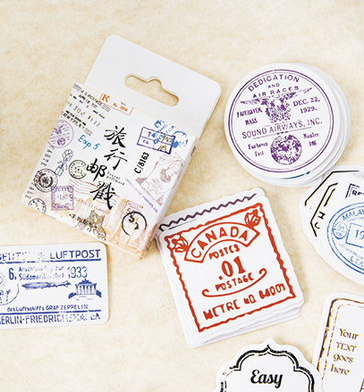 S80- Travel Mark Diy Decorative Stickers(1pack=45pieces)