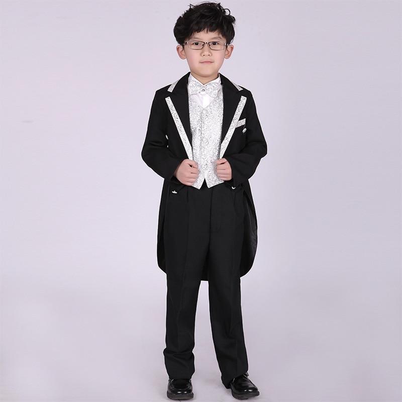 Popodion Boy's Suit Formal Attire for Kids Baby Attire Boy Tuxedo Page Boy Wedding FGD10118