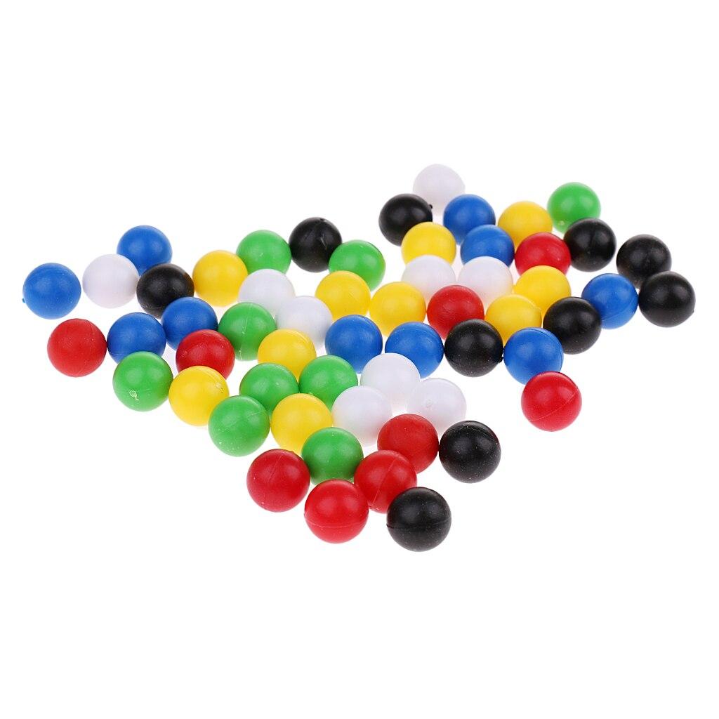 60 штук, маленькие пластиковые шарики/бусины для соединения четырех игр, диаметр 1 см