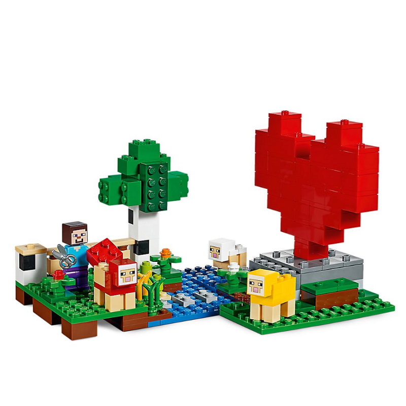The Wool Farm Building Blocks With Steve Action Figures Compatible LegoINGlys MinecraftINGlys Sets Toys 21153 3
