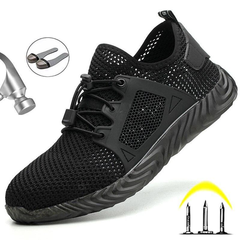 stalen neus schoenen anti-piercing werkschoenen mannen casual