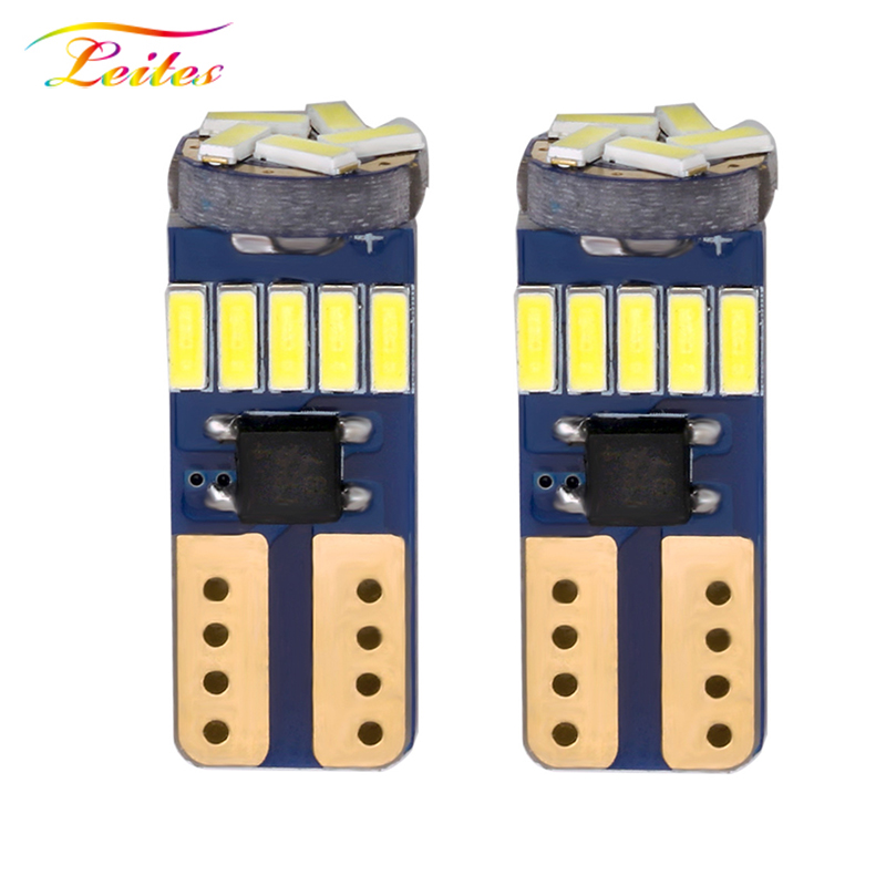 100pcs Car Auto LED <font><b>T10</b></font> 194 <font><b>W5W</b></font> <font><b>Canbus</b></font> 15 SMD <font><b>4014</b></font> LED Light Bulb No error led parking car styling Fog lamps car accessories image
