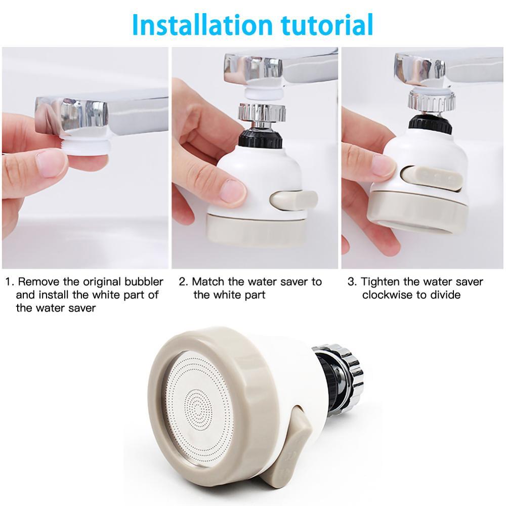 Купить смеситель для ванной и кухни 3 уровня поворот на 360 градусов