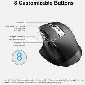 Image 5 - Rapoo souris sans fil, multimode, Rechargeable Bluetooth, 2.4 go, 4 appareils, commutation facile, pour Windows, PC et Android
