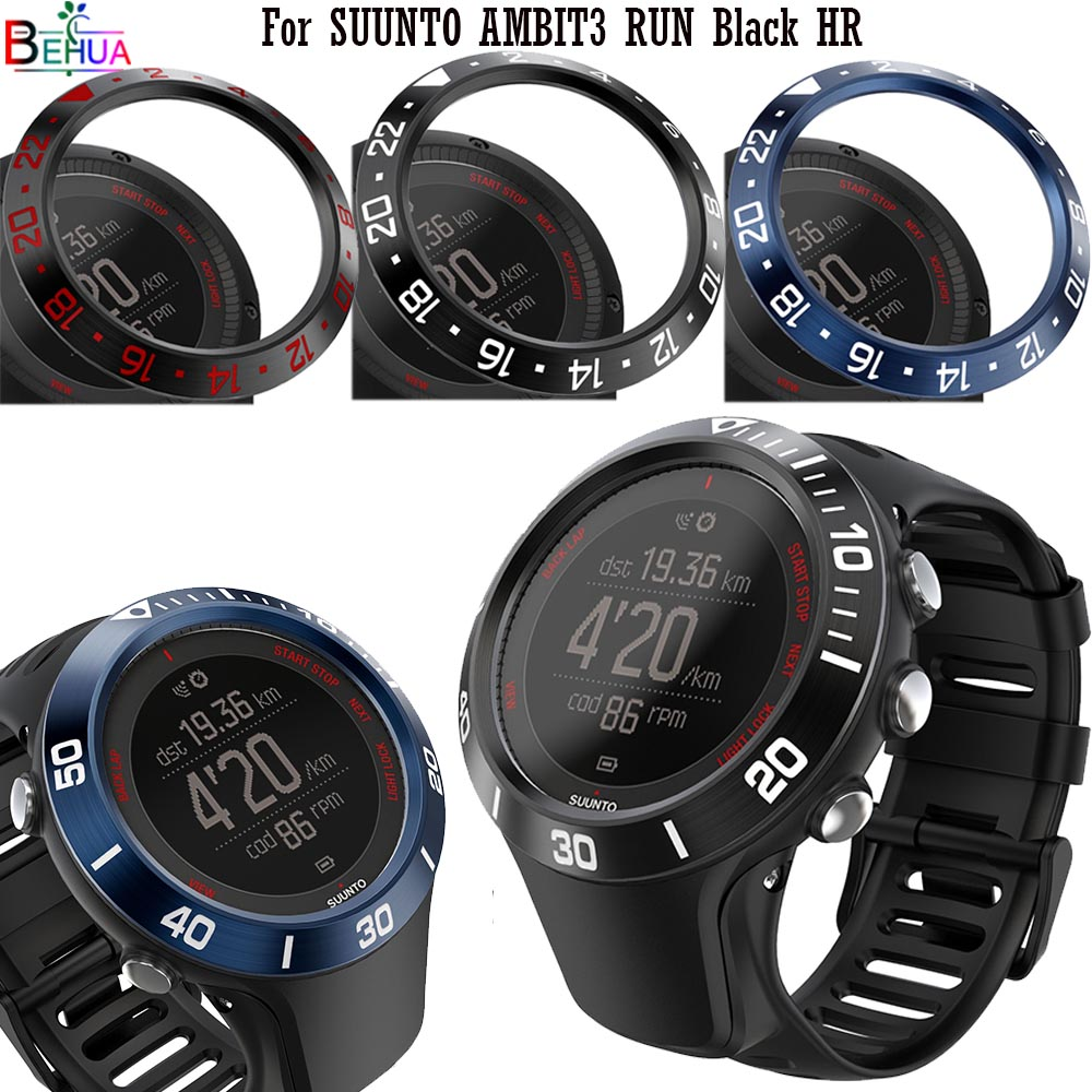 Bezel Ring Styling For SUUNTO Ambit 3R Stainless Steel Case For SUUNTO AMBIT3 RUN Black HR Watch Adhesiv Protection Case Cover