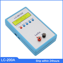 цена на Free Shipping  LC-200A Digital LCD Capacitance inductance meter LC Meter 1pF-100mF 1uH-100H