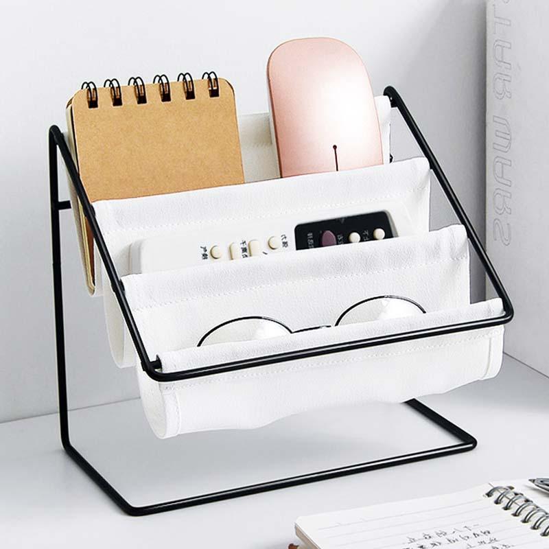 Suportes de armazenamento lona ferro casa acessórios mesa escritório metal decoração prateleiras para parede controle remoto maquiagem óculos de sol organizador