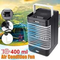 AC220V Mini Tragbare Klimaanlage Befeuchter reinigungsapparat Desktop Lüfter Luftkühler Schwarz Fan für Camping Outdoor aktivitäten-in Ventilatoren aus Haushaltsgeräte bei