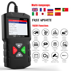 YA-201 OBD2 Scanner Engine Code Reader Obd 2 Odb2 Multilingual Automotive Scanner Tools Car Diagnostic Tool Free Update
