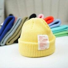 New Baby Letter Winter Hats Boys Girls Thicken Warm Cap Infant Beanie Kids Childrens Hat Casquette H4