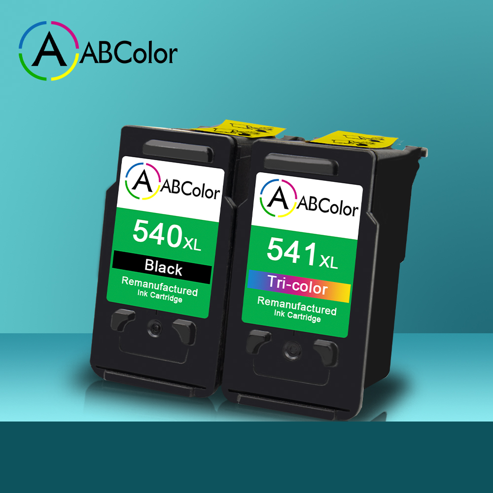 A ABCOLOR 540XL 541XL Ink Cartridge Compatible For Canon Pixma MG2150 MG2250 MG3100 MG3150 MG3155 MG3200 MG3350 MG3500 Printer