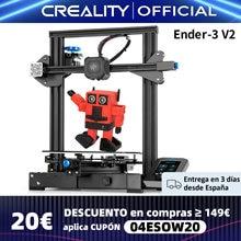 CREALITY 3D Ender-3 V2 Mainboard Mit stille TMC2208 Stepper Treiber Neue UI & 4,3 Zoll Farbe Lcd Carborundum Glas Bett 3D Drucker