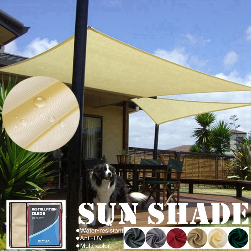 1800D Waterproof Polyester Shade Sail Rectangle Triangle Awning Outdoor Waterproof Tents Garden Terrace Swimming Shade