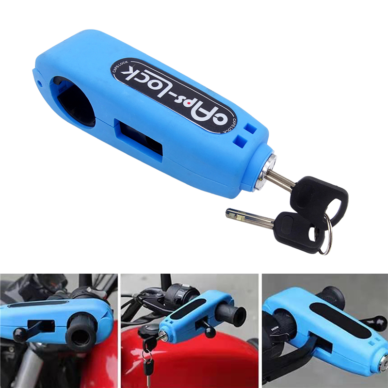 Motorcycle Grip Lock Handlebar Throttle Security Lock Anti-Theft Scooters fit for ATV Motorcycles Dirt Street Bike Green