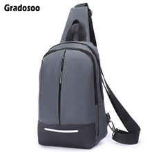 Gradosoo Oxford Male Chest Bag Waterproof Messenger Bag Man Shoulder Crossbody Bag For Men Bag Casual Travel Bag Male New LBF675 недорого