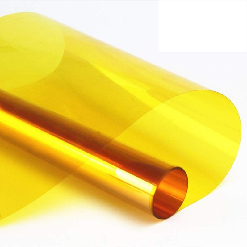 Yellow Translucent Window Film Self-Adhesive Drop-Shipping Multi-Size UV-Prevension Decoration Insect Prevention Tint Sticker