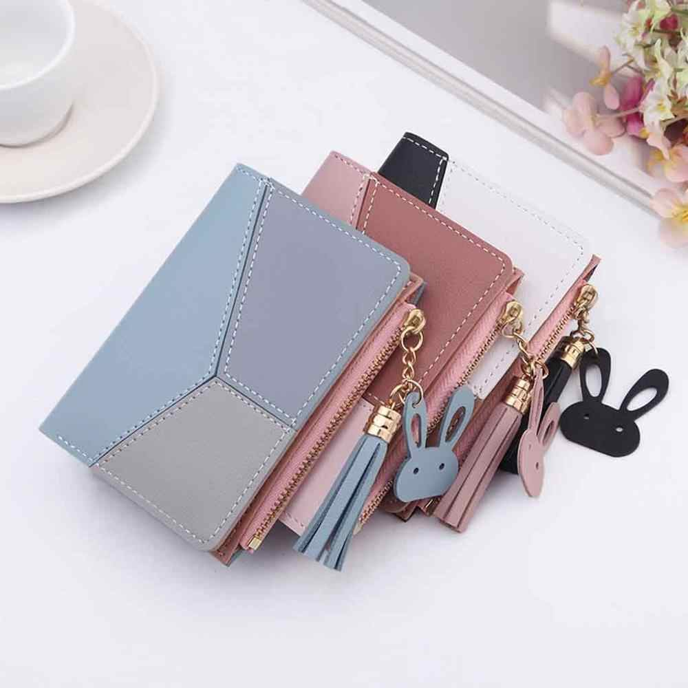 2020 New Women Small Wallets Fashion Ladies Leather Purse Short Unisex Coin Bag Simple For Women's Clutch Card Holder Wallet