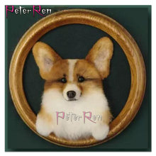 Собака в круг 5d мозаика Алмазная картина из смолы горный хрусталь