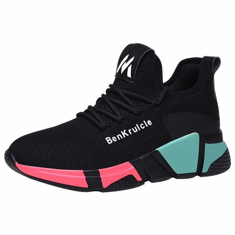 2019 г., женские повседневные кроссовки Высококачественная удобная обувь на шнуровке женская обувь Basket Femme