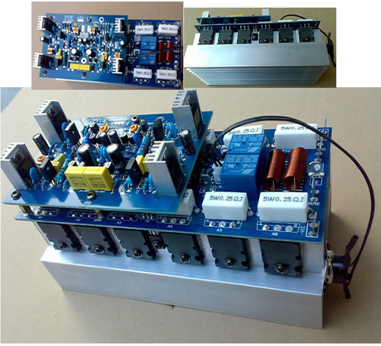 NEW 12PCS C5200 A1943 Power Tube  Assembled 350W*2 2.0 Channel Powerful Amplifier Board / 2.0 Amp Board Stage Amplifer Board