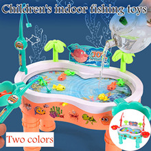 Kids Fishing Board Game Toys For Children Magnetic Fishing Toys Pool Water Play Table Set Montessori Educational Toys Gifts#g4