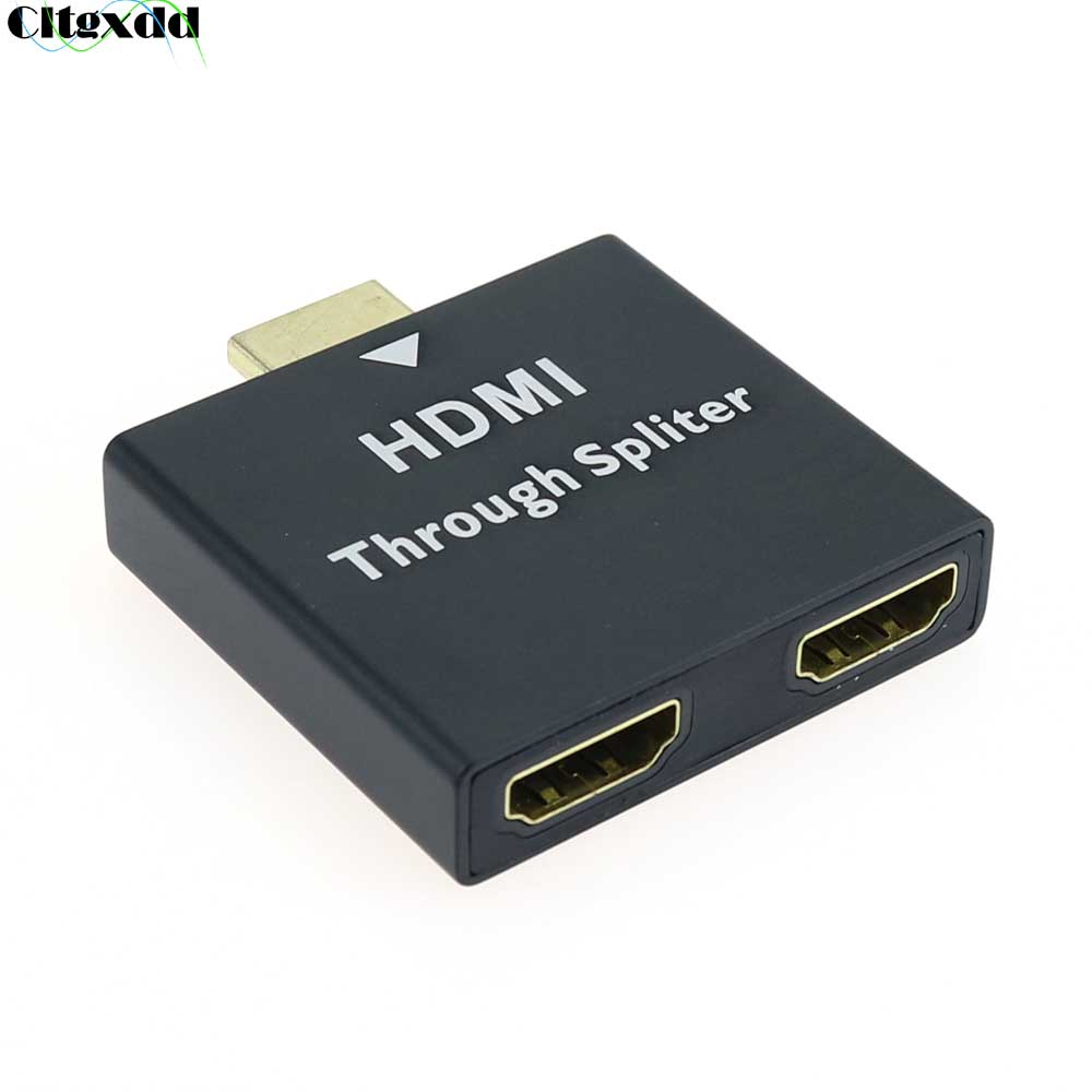 HDMI Converter Adapter 1080P HDMI Male to Double Female 1 In 2 Y Splitter HDMI Connector For Xbox Bl