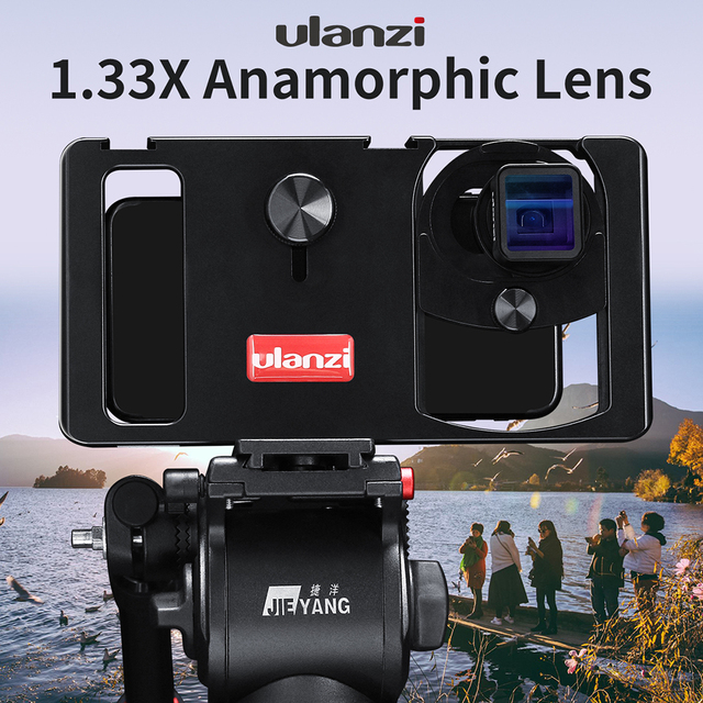 ULANZI Anamorphic Lens lenses For Mobile Phone 1.33X Wide Screen Movie Lens for iPhone 7 8 plus Samsung S8 S9 S10 Plus Note10