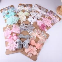 3pcs / set baby hair band sequin big bow elastic headband newborn girl boy accessories birthday gift photo