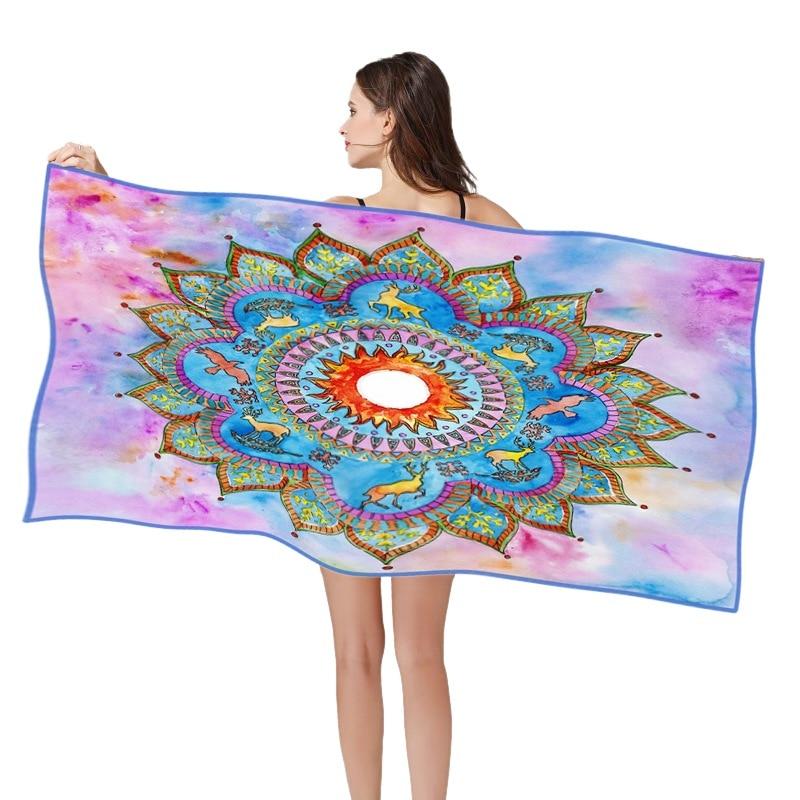 Dream с принтом, быстро сохнет впитывающее полотенце микрофибра Большое пляжное полотенце для очки для плавания пляжный Чехол коврик для
