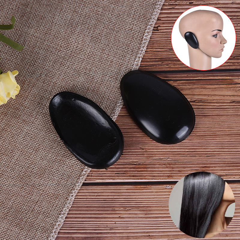 2pcs Professional Barber Ear Cover Hair Dye Protector Plastic Black Shield Salon Hairdressing Styling Tools Accessories